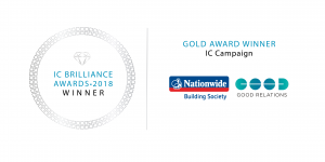 WINNER SEAL - Nationwide Building Society - Good Relations - GOLD